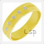 Snubní prsteny LSP 2246 žluté zlato