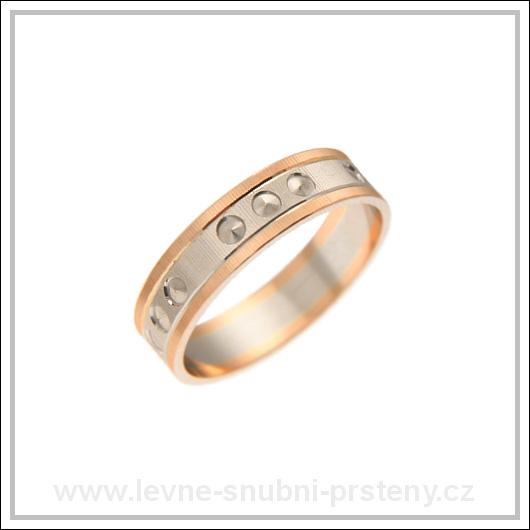 Snubní prsteny LSP 2249 kombinované zlato