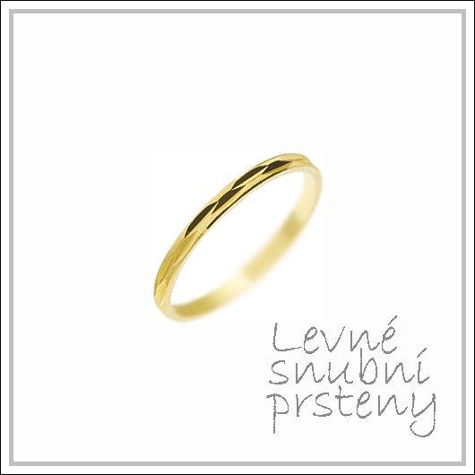 Snubní prsteny LSP 2251 žluté zlato