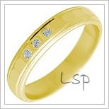 Snubní prsteny LSP 2254 žluté zlato