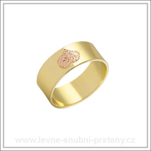 Snubní prsteny LSP 2255 žluté zlato