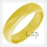 Snubní prsteny LSP 2257 žluté zlato