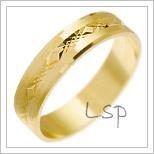 Snubní prsteny LSP 2258 žluté zlato