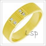 Snubní prsteny LSP 2261 žluté zlato