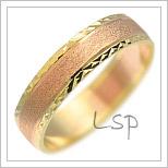 Snubní prsteny LSP 2263 kombinované zlato