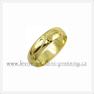 Snubní prsteny LSP 2265 žluté zlato