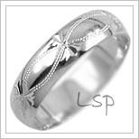 Snubní prsteny LSP 2265b bílé zlato