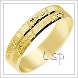 Snubní prsteny LSP 2266 žluté zlato