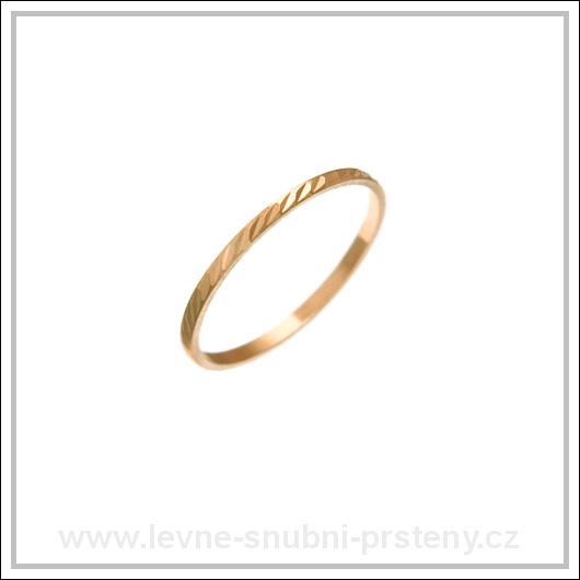 Snubní prsteny LSP 2267 červené zlato