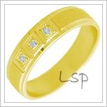 Snubní prsteny LSP 2269 žluté zlato