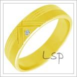 Snubní prsteny LSP 2270 žluté zlato