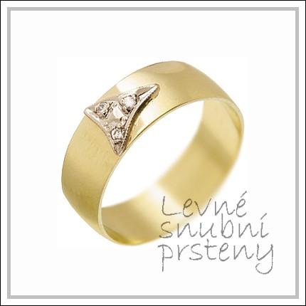 Snubní prsteny LSP 2271 žluté zlato