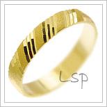 Snubní prsteny LSP 2274 žluté zlato