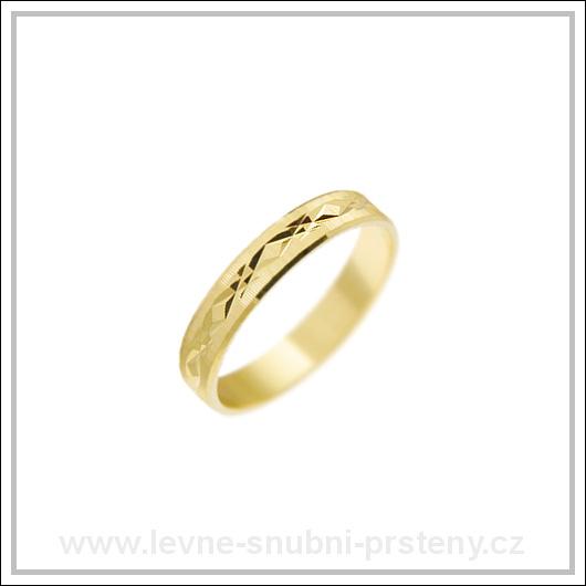 Snubní prsteny LSP 2275 žluté zlato