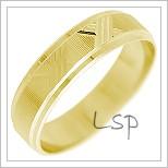 Snubní prsteny LSP 2281 žluté zlato