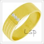Snubní prsteny LSP 2283 žluté zlato