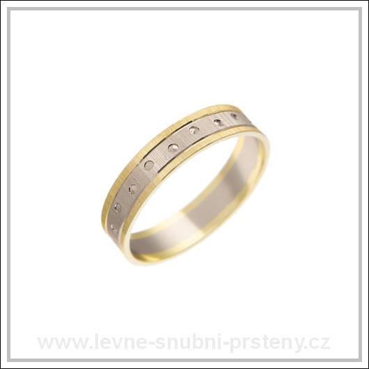 Snubní prsteny LSP 2284 kombinované zlato