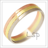 Snubní prsteny LSP 2285 kombinované zlato