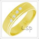 Snubní prsteny LSP 2286 žluté zlato