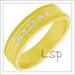 Snubní prsteny LSP 2290 žluté zlato