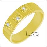Snubní prsteny LSP 2292 žluté zlato