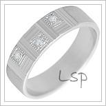 Snubní prsteny LSP 2292b bílé zlato