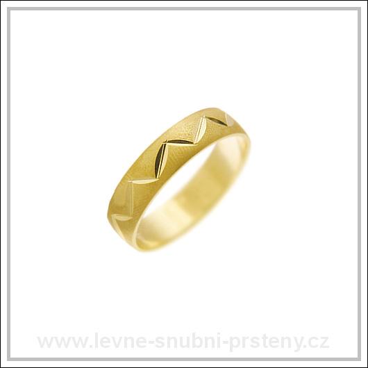 Snubní prsteny LSP 2293 žluté zlato
