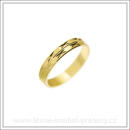 Snubní prsteny LSP 2294 žluté zlato