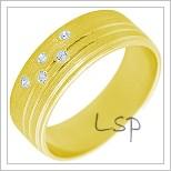 Snubní prsteny LSP 2296 žluté zlato