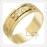 Snubní prsteny LSP 2297 žluté zlato