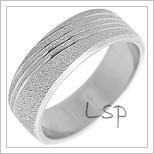 Snubní prsteny LSP 2300b bílé zlato