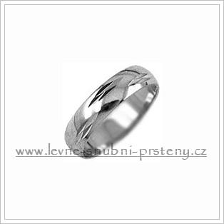 Snubní prsteny LSP 2303b bílé zlato