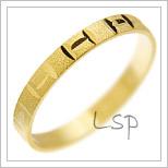 Snubní prsteny LSP 2304 žluté zlato