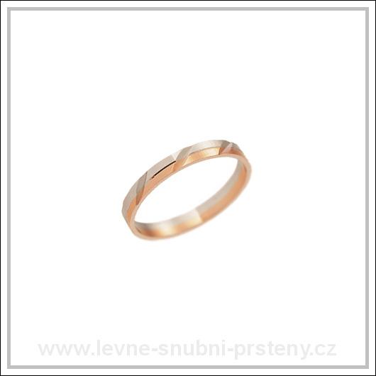 Snubní prsteny LSP 2306 kombinované zlato