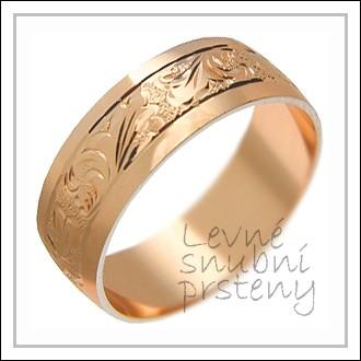Snubní prsteny LSP 2310 červené zlato