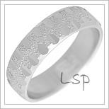 Snubní prsteny LSP 2311b bílé zlato