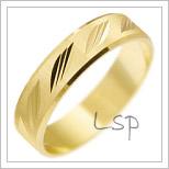 Snubní prsteny LSP 2313 žluté zlato
