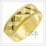 Snubní prsteny LSP 2315 žluté zlato
