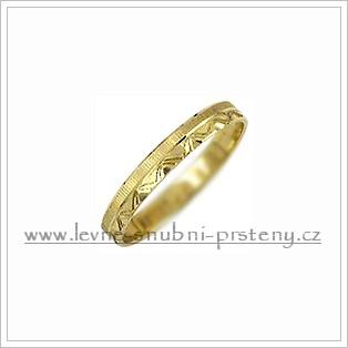 Snubní prsteny LSP 2317 žluté zlato