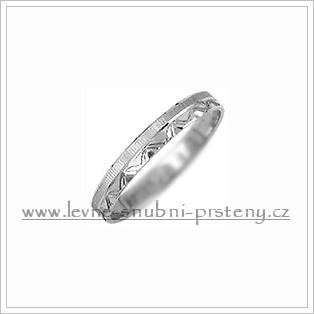 Snubní prsteny LSP 2317b bílé zlato
