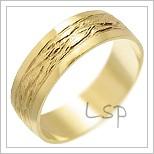 Snubní prsteny LSP 2319 žluté zlato