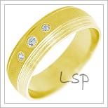 Snubní prsteny LSP 2321 žluté zlato
