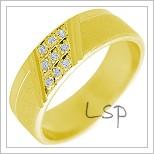 Snubní prsteny LSP 2323 žluté zlato