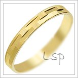 Snubní prsteny LSP 2324 žluté zlato