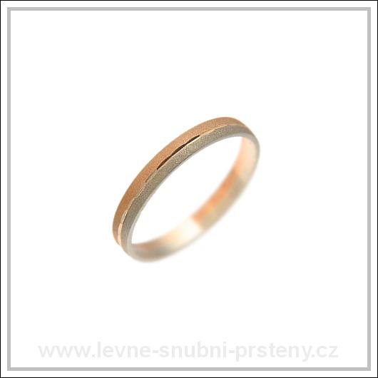 Snubní prsteny LSP 2326 kombinované zlato