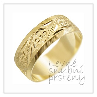 Snubní prsteny LSP 2334 žluté zlato