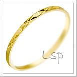 Snubní prsteny LSP 2338 žluté zlato