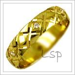 Snubní prsteny LSP 2340 žluté zlato s diamanty