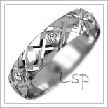 Snubní prsteny LSP 2340b bílé zlato