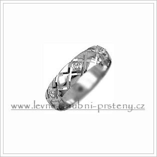 Snubní prsteny LSP 2340bz bílé zlato